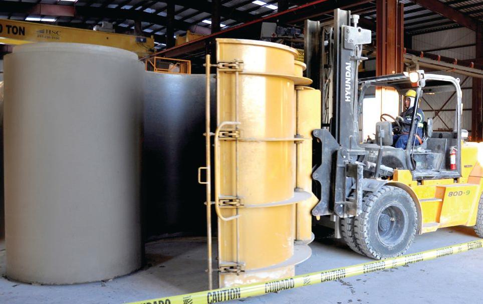 Precast concrete pipe plant Lockhart Texas