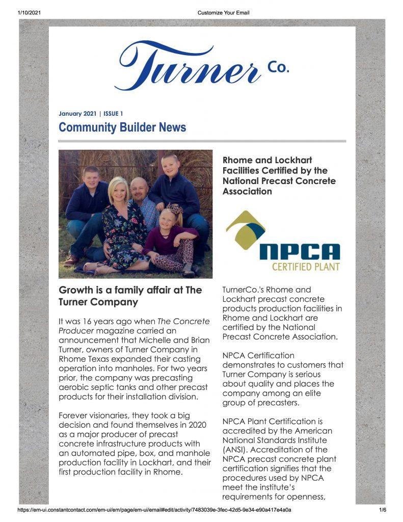 Newsletter Turnerco marketing