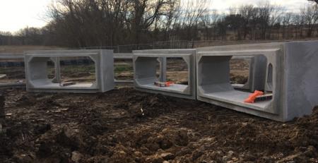 Precast concrete boxes